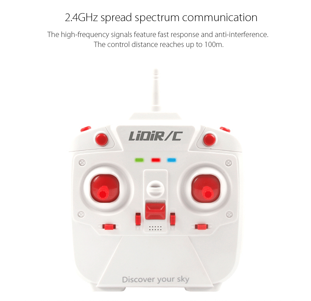 LiDiRC L15FW WiFi FPV 2.4GHz 4CH 6 Axis Gyro Waterproof Brushed RC Quadcopter