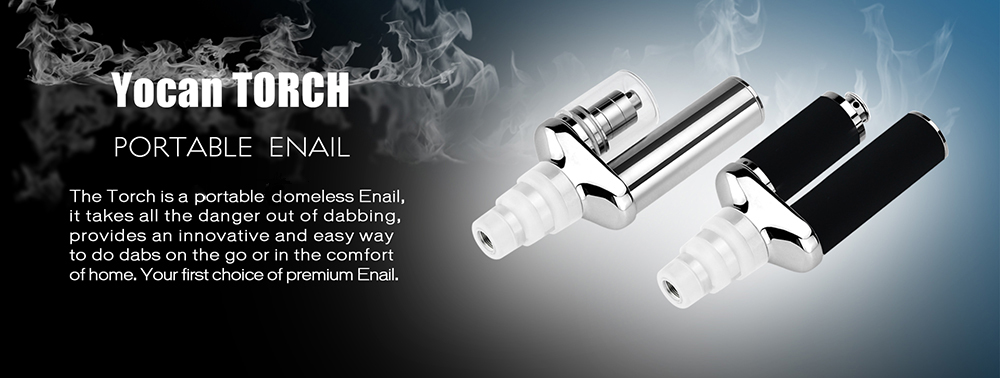 Authentic Yocan Torch Enail Starter Kit with 1100mAh Battery / 0.8 ohm Head Atomizer for E Cigarette