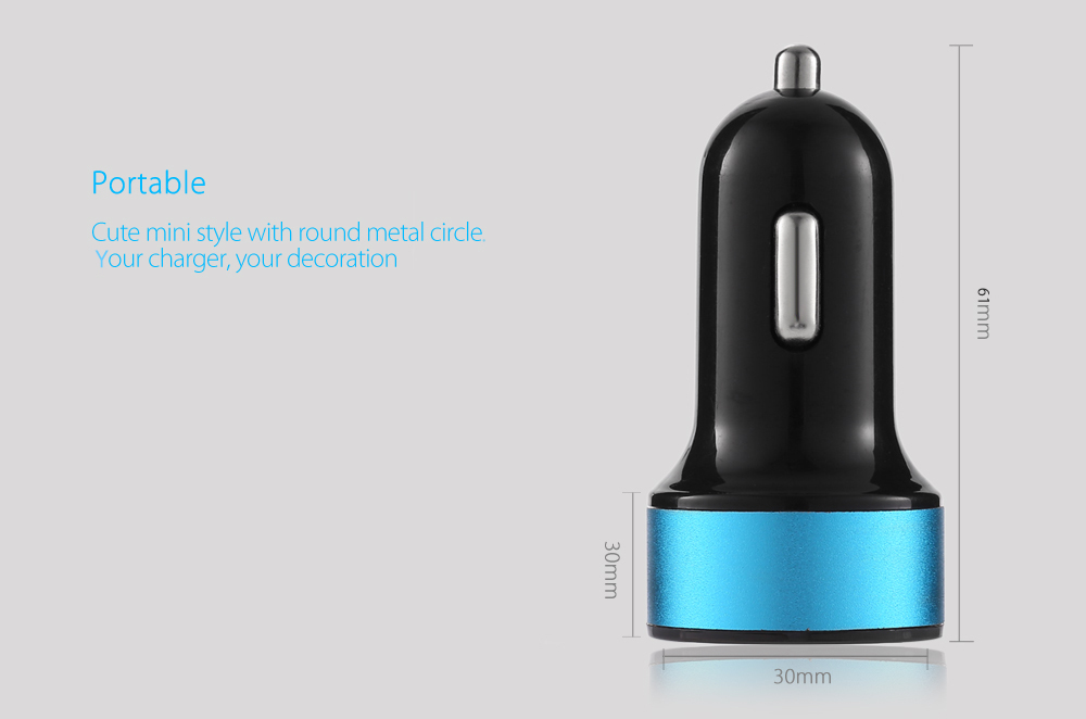BON - C201 Quick Charge 2.0 Car Charger Round Metal Circle