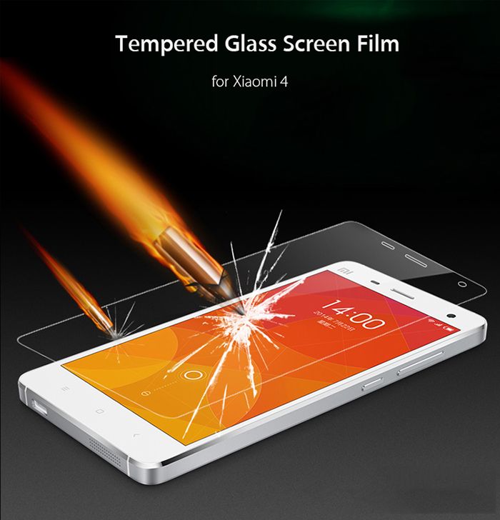 Luanke Tempered Glass Screen Protective Film for Xiaomi 4 0.26mm 2.5D 9H Explosion-proof Membrane