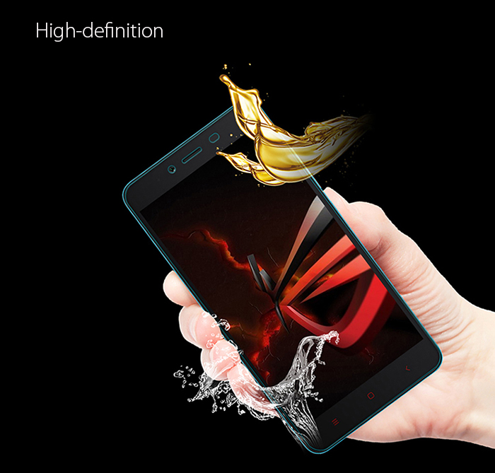 Luanke Tempered Glass Screen Protective Film for Xiaomi Redmi Note 2 0.26mm 2.5D 9H Explosion-proof Membrane