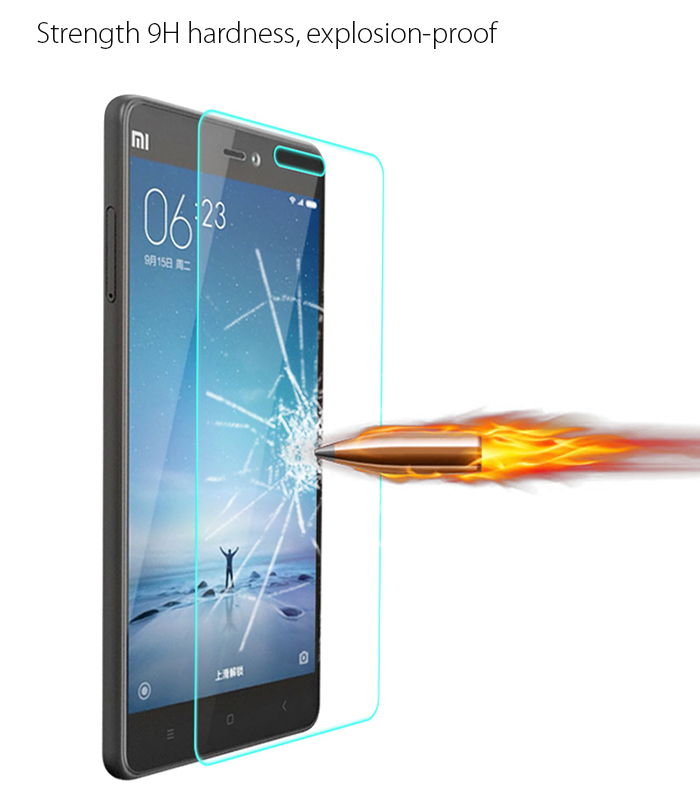 Luanke Tempered Glass Screen Protective Film for Xiaomi 4S 0.26mm 2.5D 9H Explosion-proof Membrane
