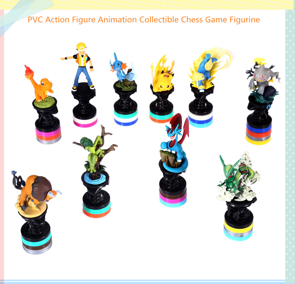 PVC Action Figure Animation Collectible Chess Game Figurine Toy for Kid - 10pcs / set