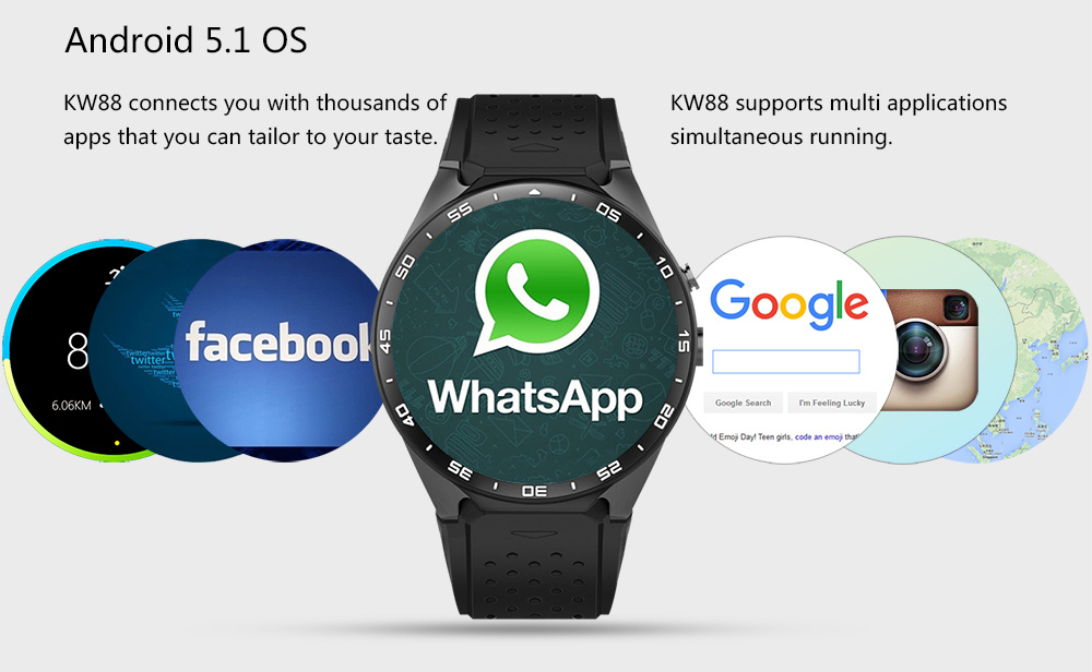 KingWear KW88 3G Smartwatch Review, Specification And Price 25