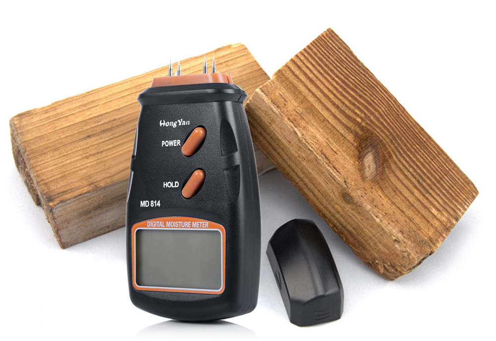 HongYan MD814 Digital Wood Timber Moisture Tester Humidity Meter with LCD Display