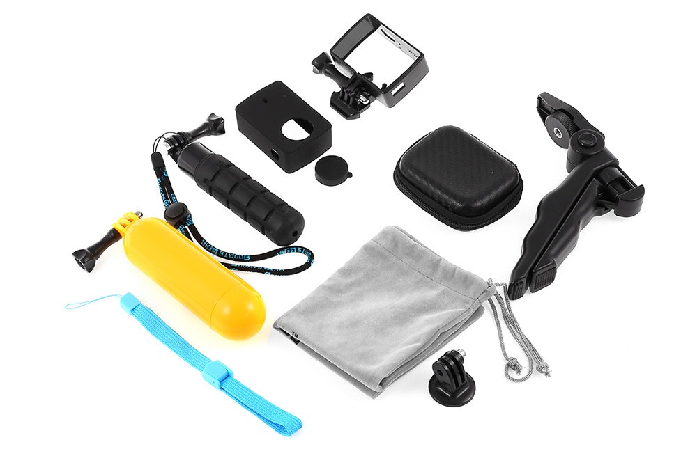 SMACO CPK063 8 in 1 Tripod Hand Grip Floaty Bobber Frame Silicon Case Kit for Xiaomi Yi 2