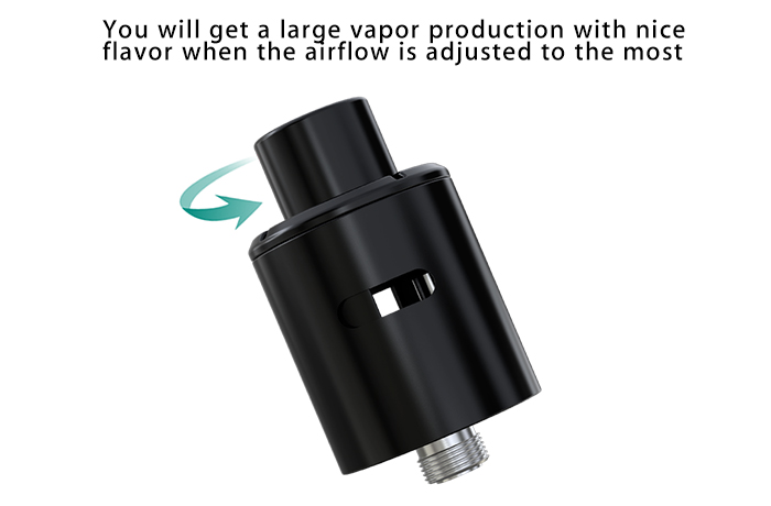 Eleaf Coral RDA Atomizer Detachable Structure / Adjustable Airflow E Cigarette Rebuildable Dripping Atomizer