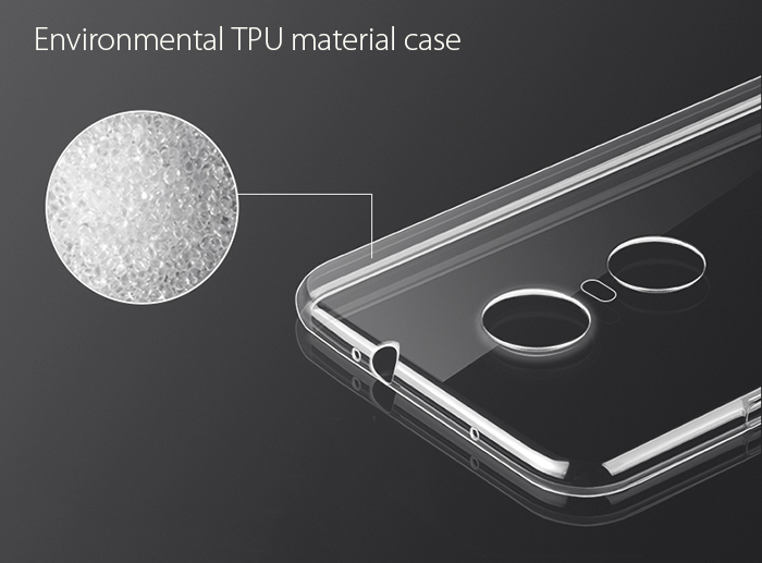 Luanke Transparent TPU Soft Case for Xiaomi Redmi Note 3 Ultra Thin Phone Protector