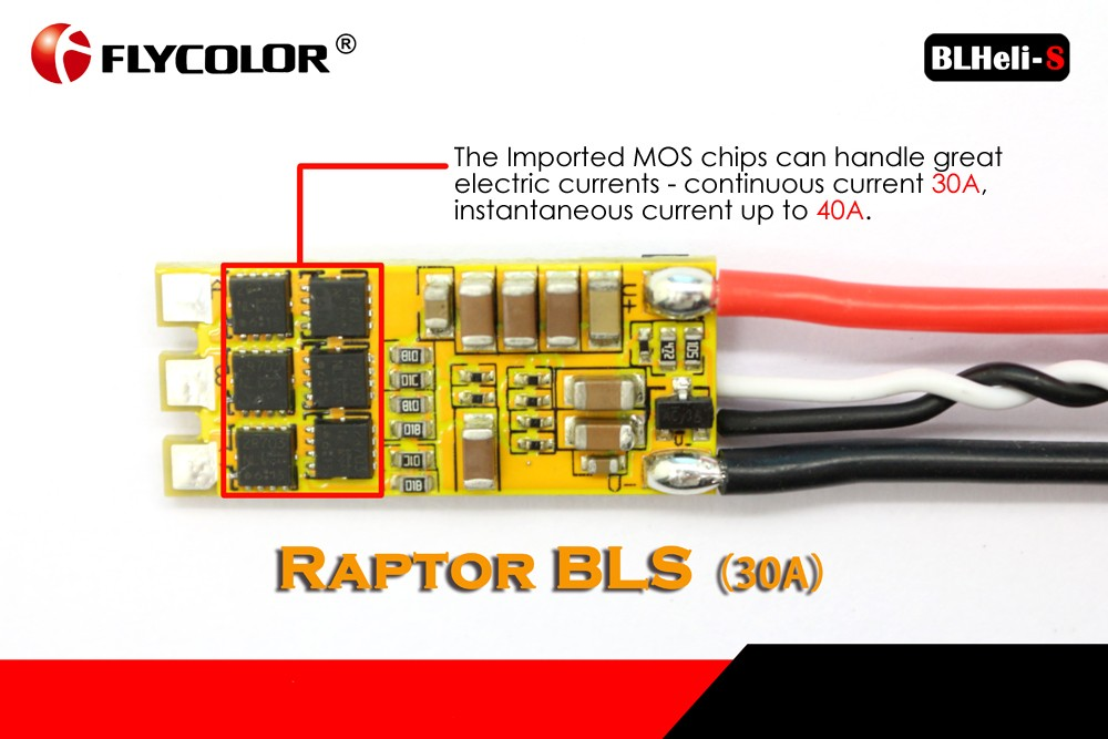Flycolor Raptor BLHeli - S 2 - 4S 30A 50MHz OPTO Brushless ESC Set with DShot150 DShot300 DShot600