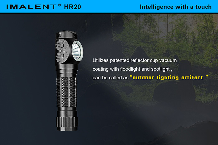 IMALENT HR20 Cree XPL HI 1000Lm 18650 Rechargeable Dimming LED Headlamp