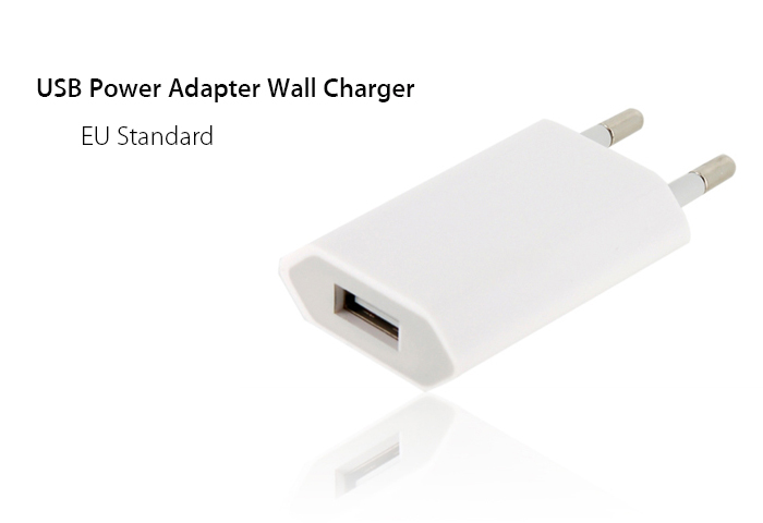EU Standard USB Power Adapter Wall Charger for iPhone 4S , iPhone 4 , iPhone 3G / 3GS , iPod , Cell Phone , MP3 & MP4