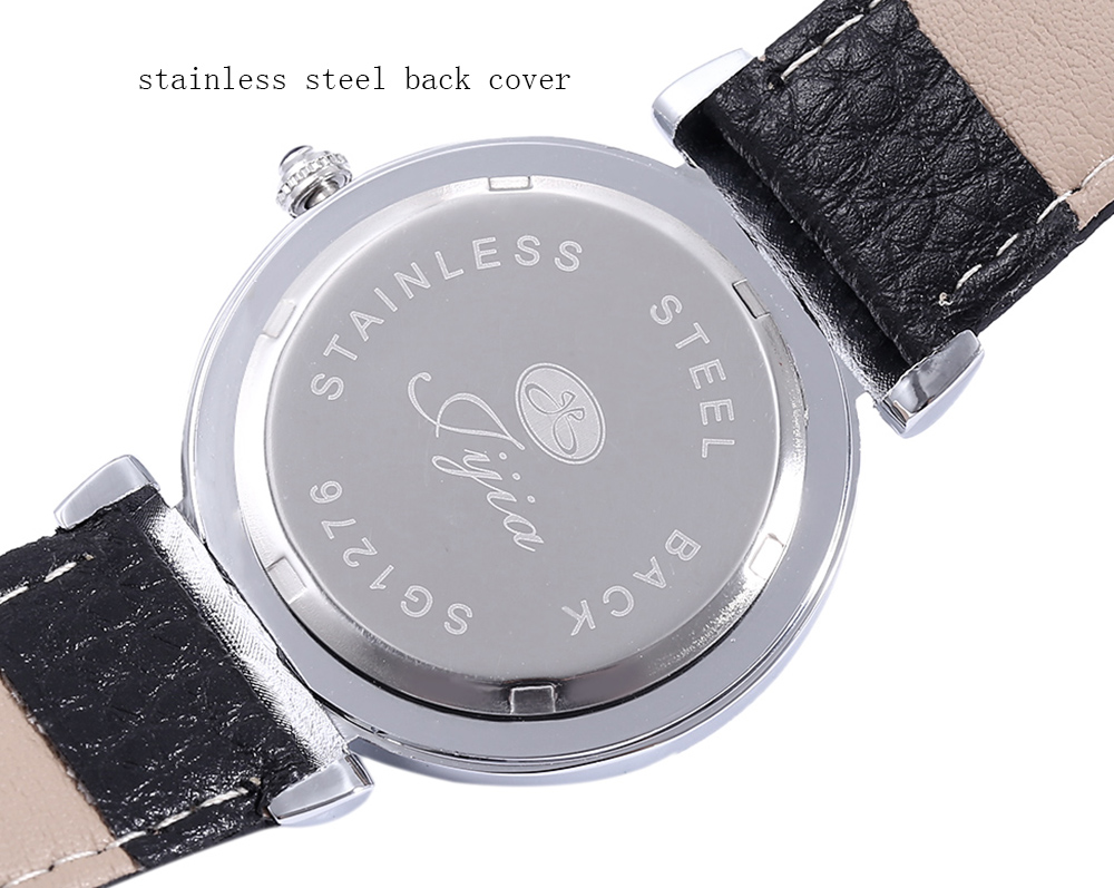 JIJIA SG1276 Fashion Nailed + Roman Number Scale Quartz Watch for Lady
