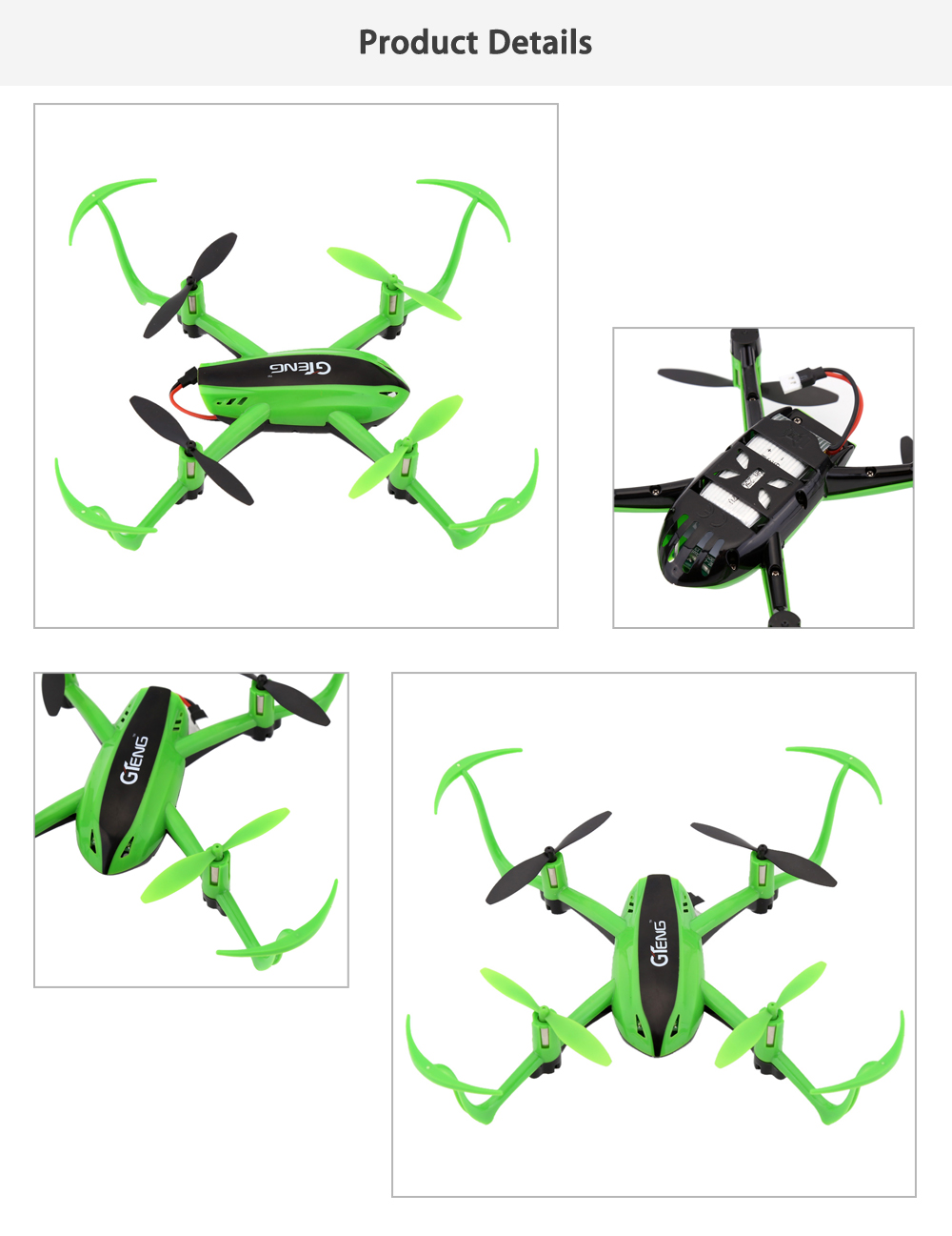 Gteng T903 2.4GHz 4CH 6-axis-gyro Inverted RC Quadcopter