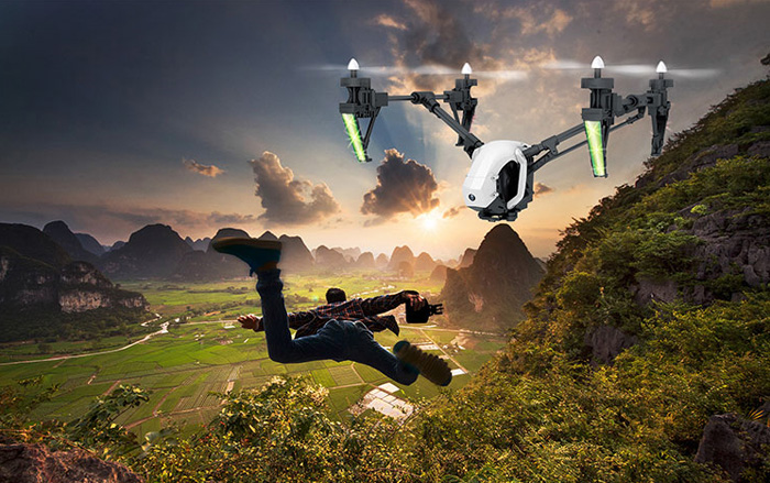 WLtoys Q333 - A 5.8G FPV 0.3MP Camera 2.4GHz 4CH 6 Axis Gyro Transformable RC Quadcopter