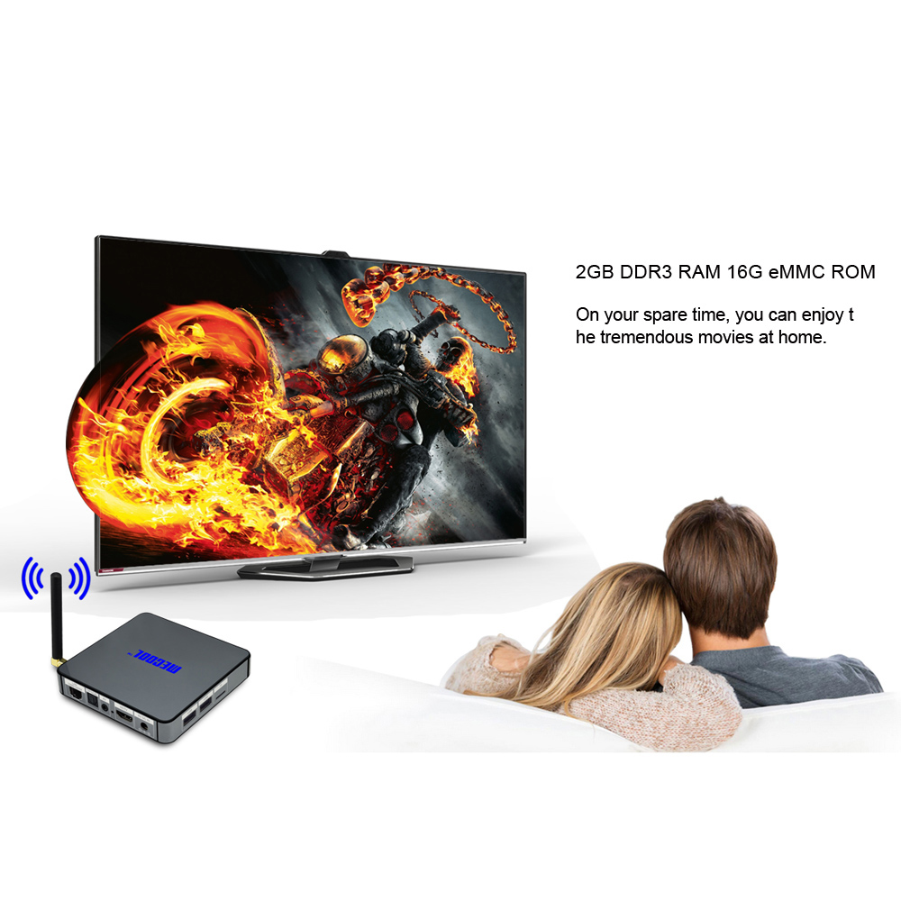 MECOOL BB2 Set-top Box Amlogic S912 Octa Core 4K x 2K H.265 Decoding 64 Bit Android 6.0 2.4G + 5G Dual Band WiFi Bluetooth 4.0