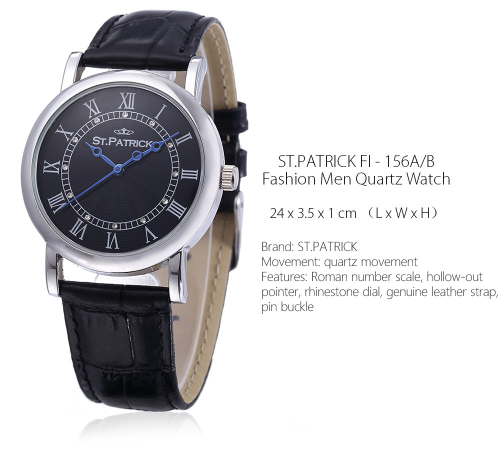 ST.PATRICK FI - 156A / B Fashion Imported Movement Quartz Watch for Men