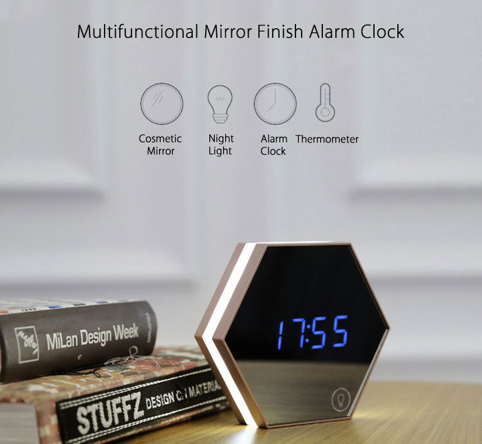 Multifunctional Digital Alarm Clock with LED Light Creative Decoration