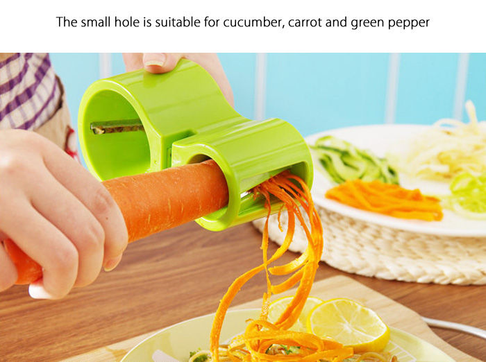 2 in 1 Spiral Cutter with Knife Sharpener Function