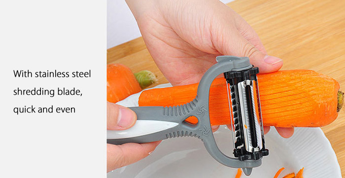 Multifunctional 360 Degree Rotary Gadget Vegetable Fruit Slicer Kitchen Cooking Tools
