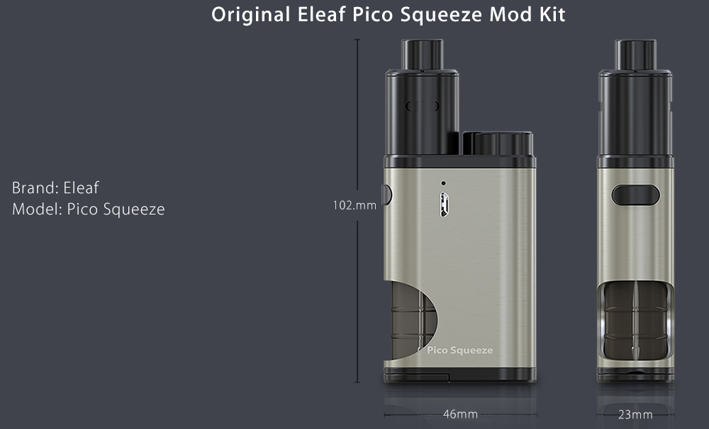 Original Eleaf Pico Squeeze Mod Kit 22mm / 50W / Detachable Structure / Adjustable Airflow for E Cigarette