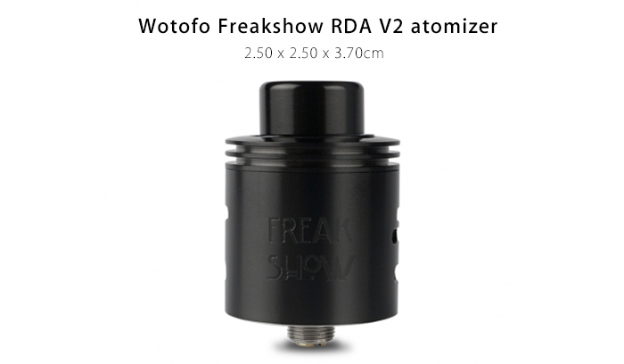 Original Wotofo Freakshow RDA V2 with Dual Bottom Airflow / Rebuildable Coil Atomizer