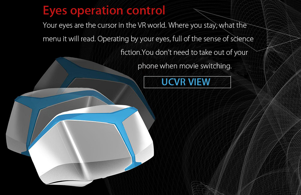 UCVR View - 01 3D VR Glasses Virtual Reality Headset 110 Degree FOV with Three Group Lenses for 4.5 - 5.7 inch Smartphones
