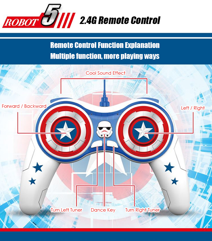 2.4G RC Spherical Robot with 30m Long Control Distance / High-tech Magnetic Suspension Technology