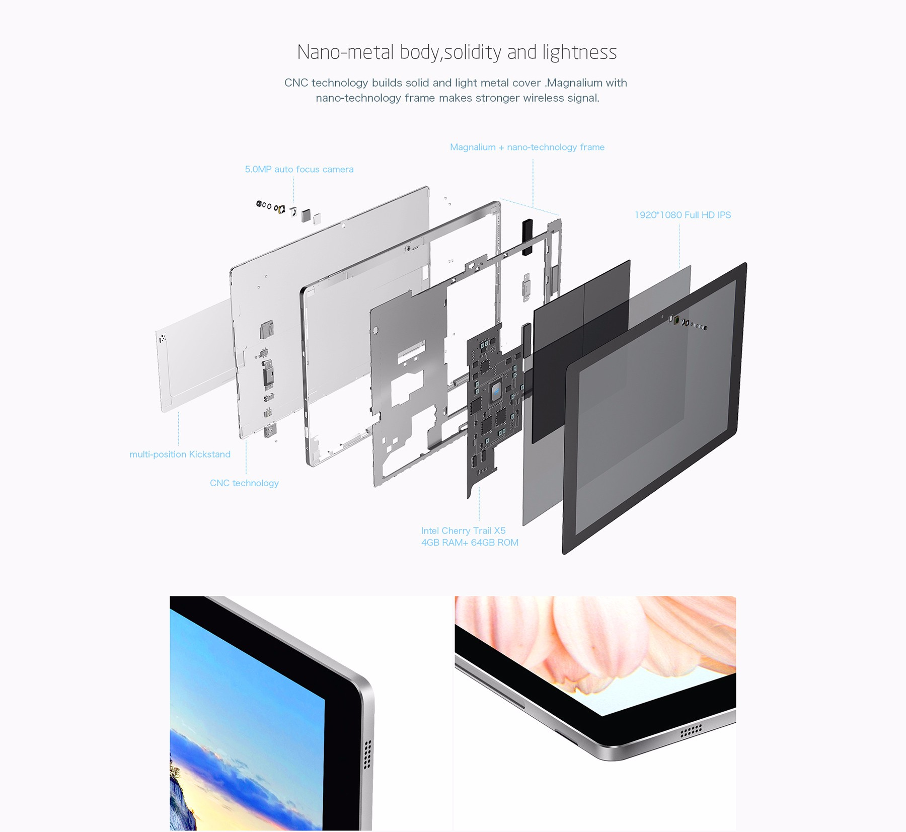 Teclast Tbook 16S 2 in 1 Tablet PC Windows 10 + Android 5.1 11.6 inch IPS Screen Intel Cherry Trail Z8300 64bit Quad Core 1.44GHz 4GB RAM 64GB ROM Cameras OTG