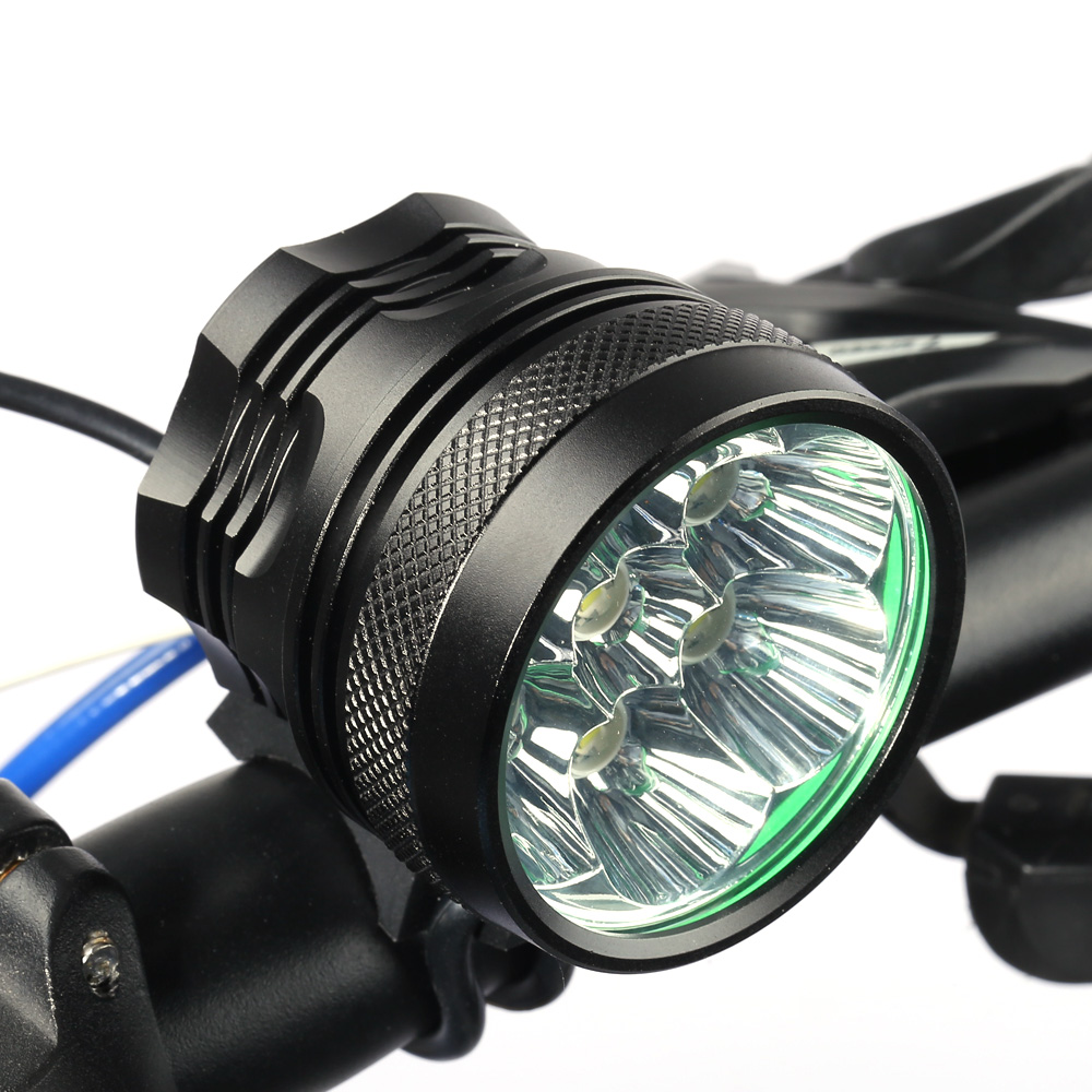Marsing MS - 07 6000Lm 3 Mode Cree XML T6 7 LED Bicycle Light Headlamp Set for Night Cycling