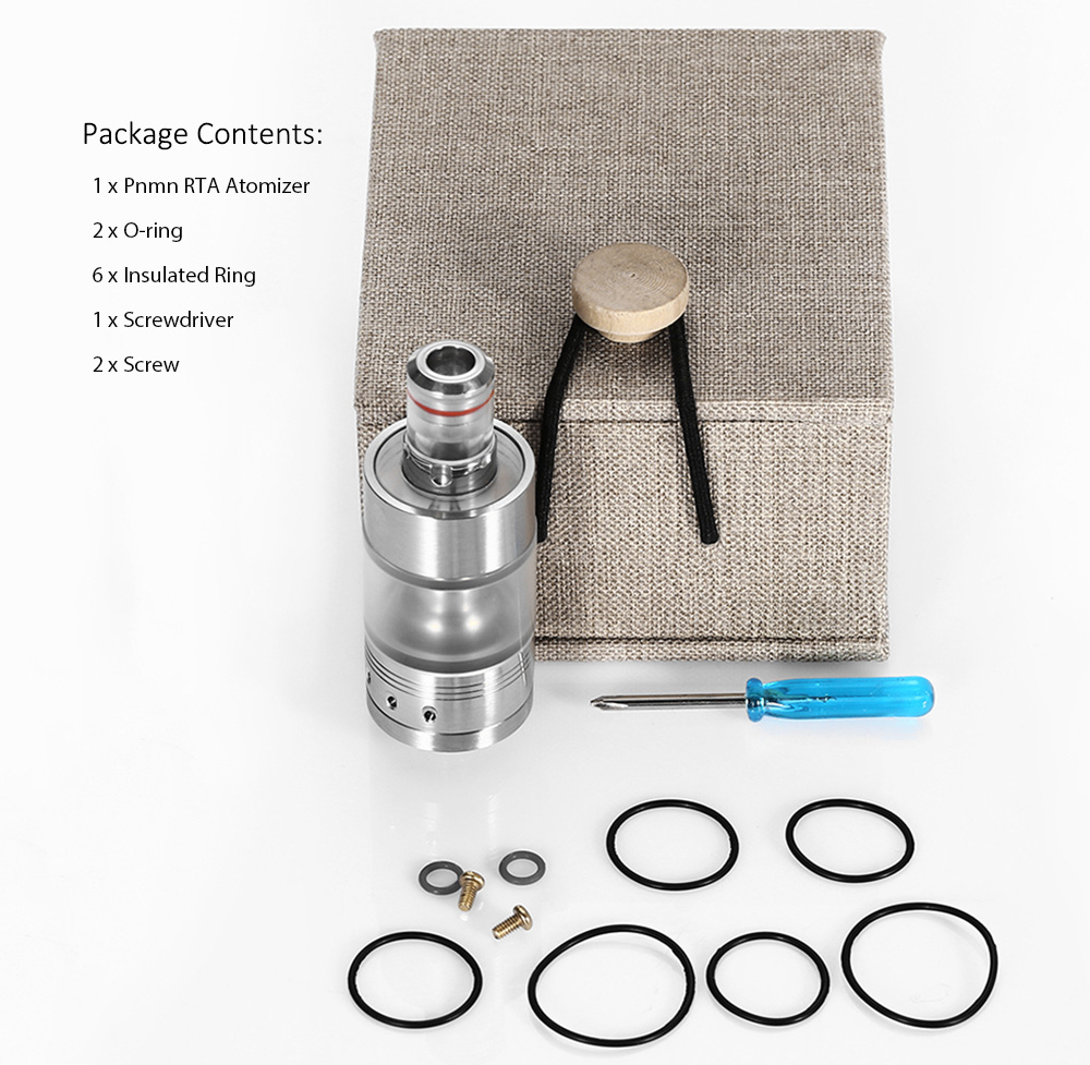 Pnmn RTA 3ml E Cigarette Rebuildable Tank Atomizer with Adjustable Bottom Airholes / Single Coil Build Deck