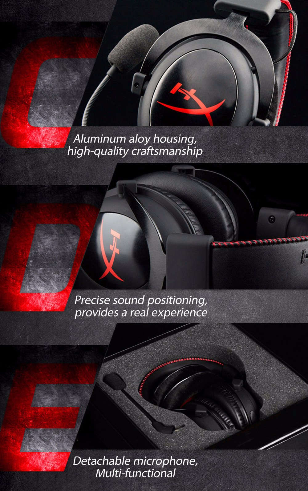 Kingston HYPERX Cloud Core KHX - HSCC - BK - FR Professional Gaming Headsets Closed Ear Cups Noise Canceling with Mic