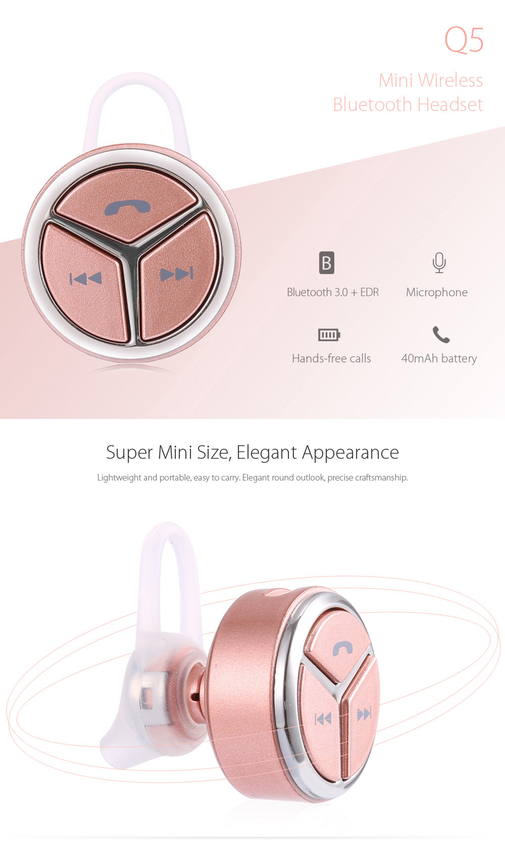 Q5 Mini Auriculares Inalámbrico Bluetooth