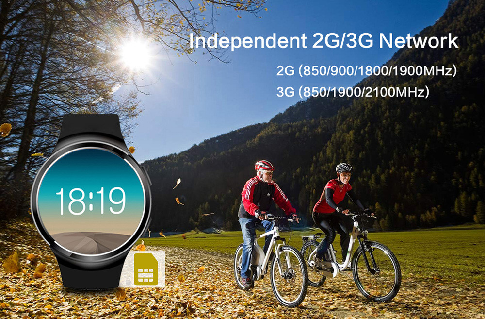 Finow X3 Plus Android 5.1 1.3 inch 3G Smartwatch Phone MTK6580 1.3GHz Quad Core 1GB RAM 8GB ROM Pedometer Heart Rate Measurement GPS Gravity Sensor