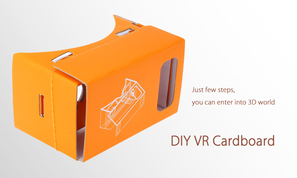 DIY Virtual Reality Cardboard 3D Glasses with Magnet for 4.7 - 5 inch Screen Phone