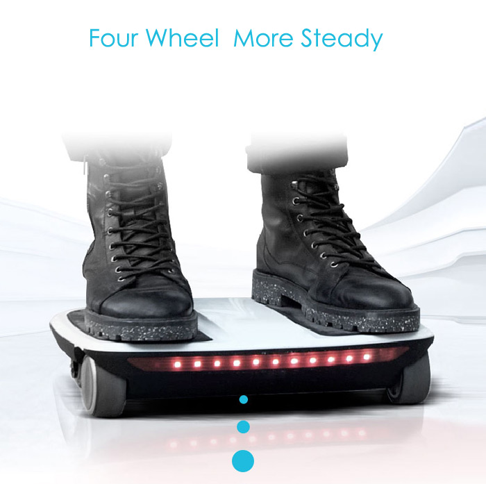 F - wheel FL - i1 Icarbot Bluetooth 4.0 Four Wheel Scooter Powered Walk Car Support for APP