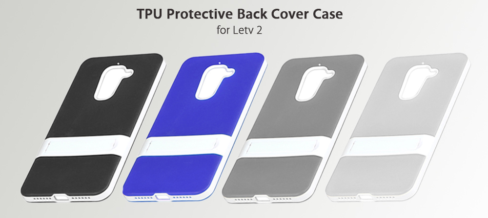 Hat - Prince TPU Protective Back Cover Case for Letv 2 with Phone Stand Holder