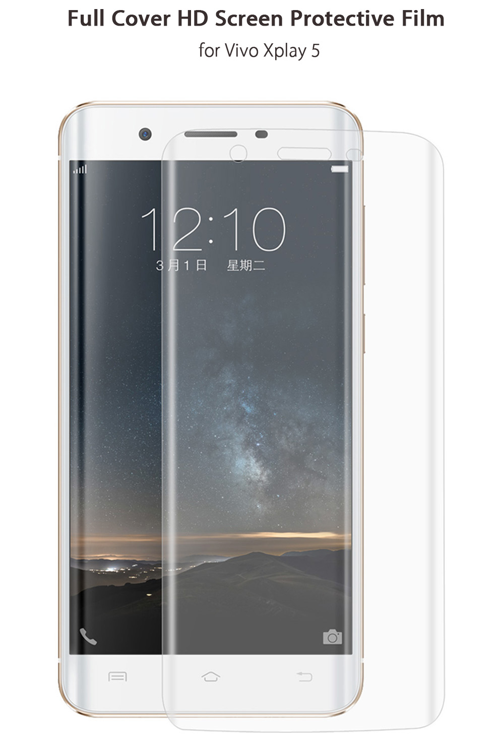 Hat - Prince Screen Protector for Vivo Xplay 5 Clear HD Full Cover Film