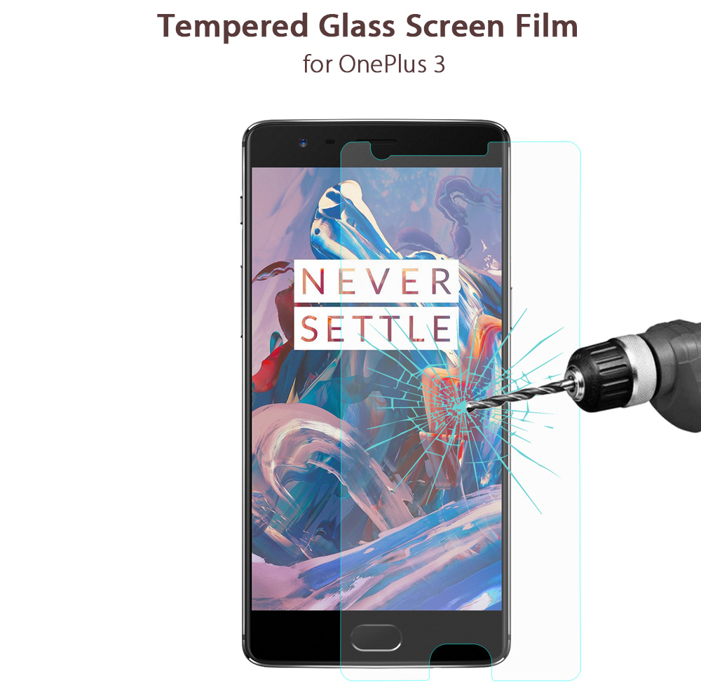 Hat - Prince Tempered Glass Screen Protective Film for OnePlus 3 0.26mm 2.5D Arc 9H Explosion-proof Membrane
