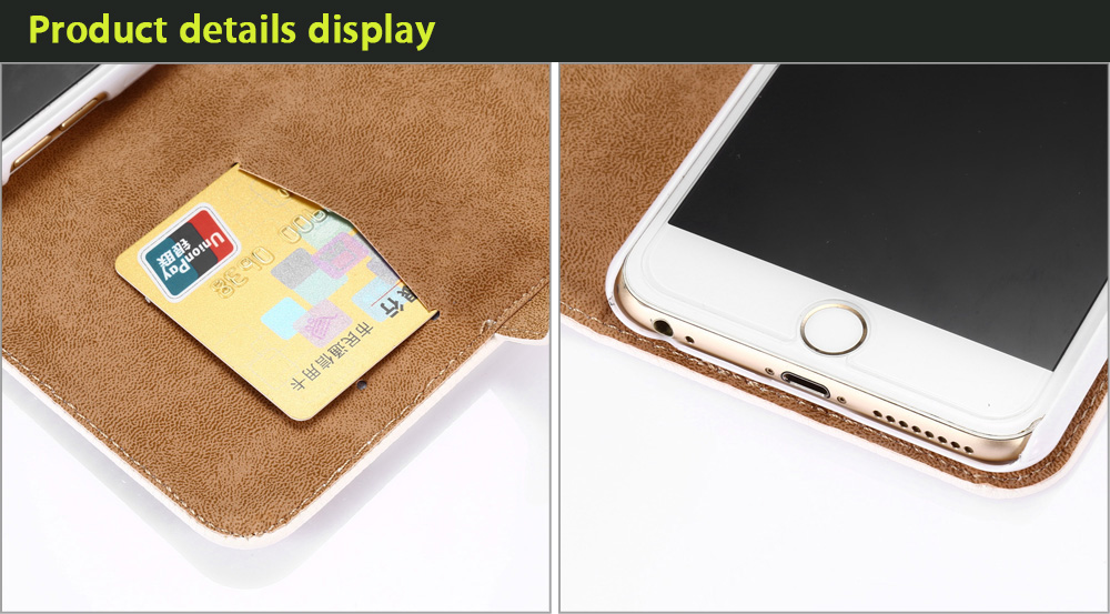 Diamond Decoration PU Leather Protective Full Body Flip-open Case for iPhone 6 Plus / 6S Plus with Phone Stand Card Slots
