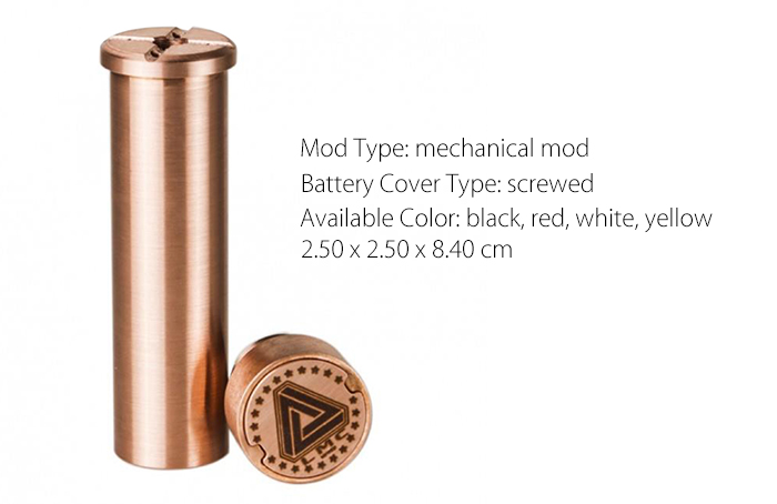 Original IJOY Limitless Mechanical Mod with Direct Atty to Battery Connection / 4 Venting Holes for E Cigarette