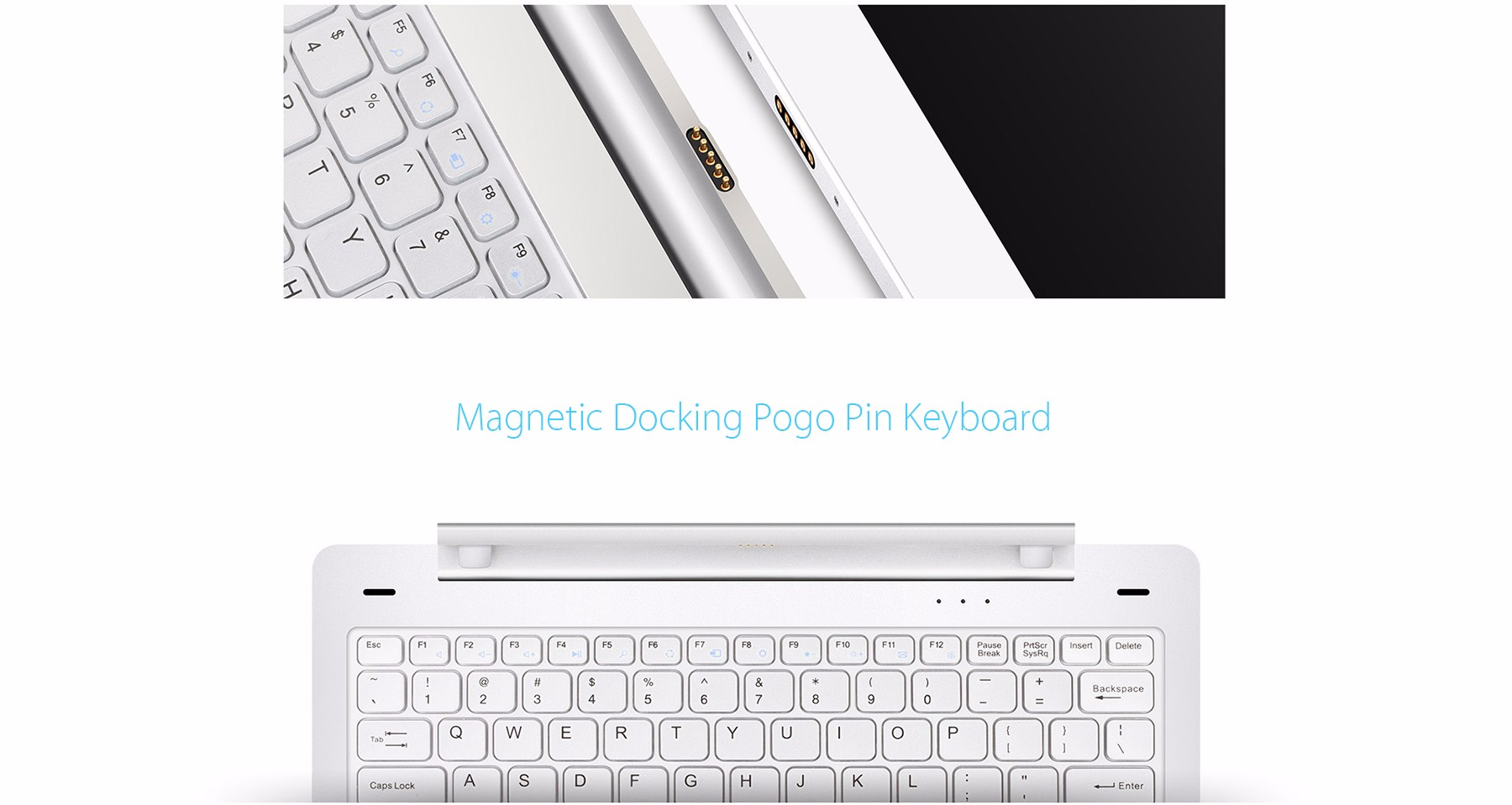 Original Teclast TBook 16 Pro Keyboard Multi Mode Rotary Shaft Magnetic Docking Pogo Pin Separable Design