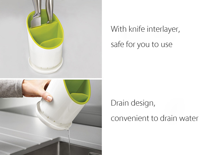 Kitchenware Storage Bucket for Knives Spoons Forks
