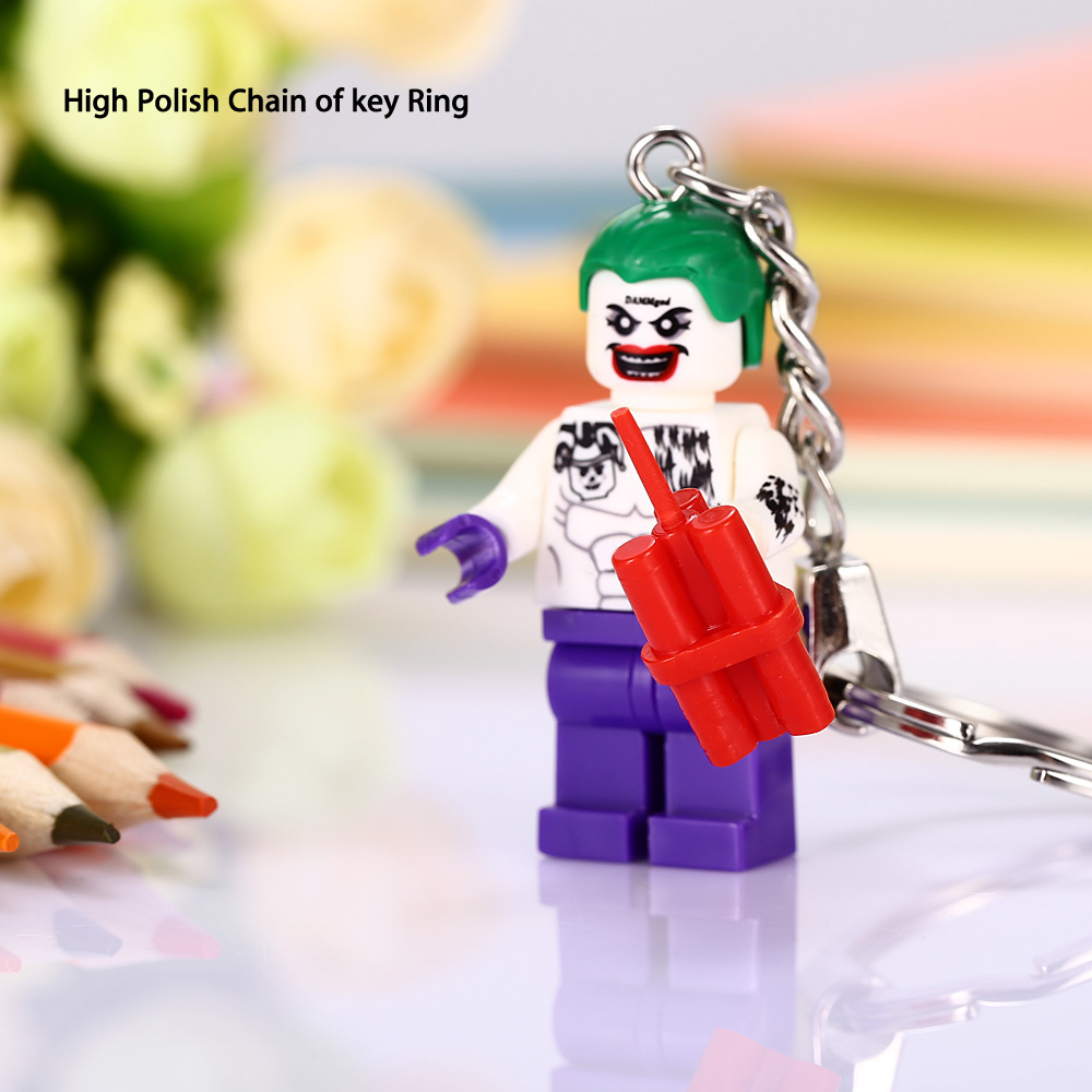 Alloy + Plastic Key Chain Hanging Pendant Clown Shape Keyring Movie Product for Decoration