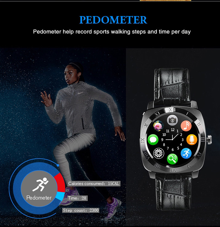 Iradish X3 1.33 inch Smartwatch Phone MTK6261 Pedometer Sleep Monitoring  Sedentary Reminder Anti-lost