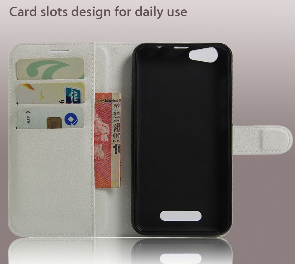 Lichee Pattern Protective Full Body Flip Wallet Case for Cubot Note S PU Leather Shell with Stand Card Slot