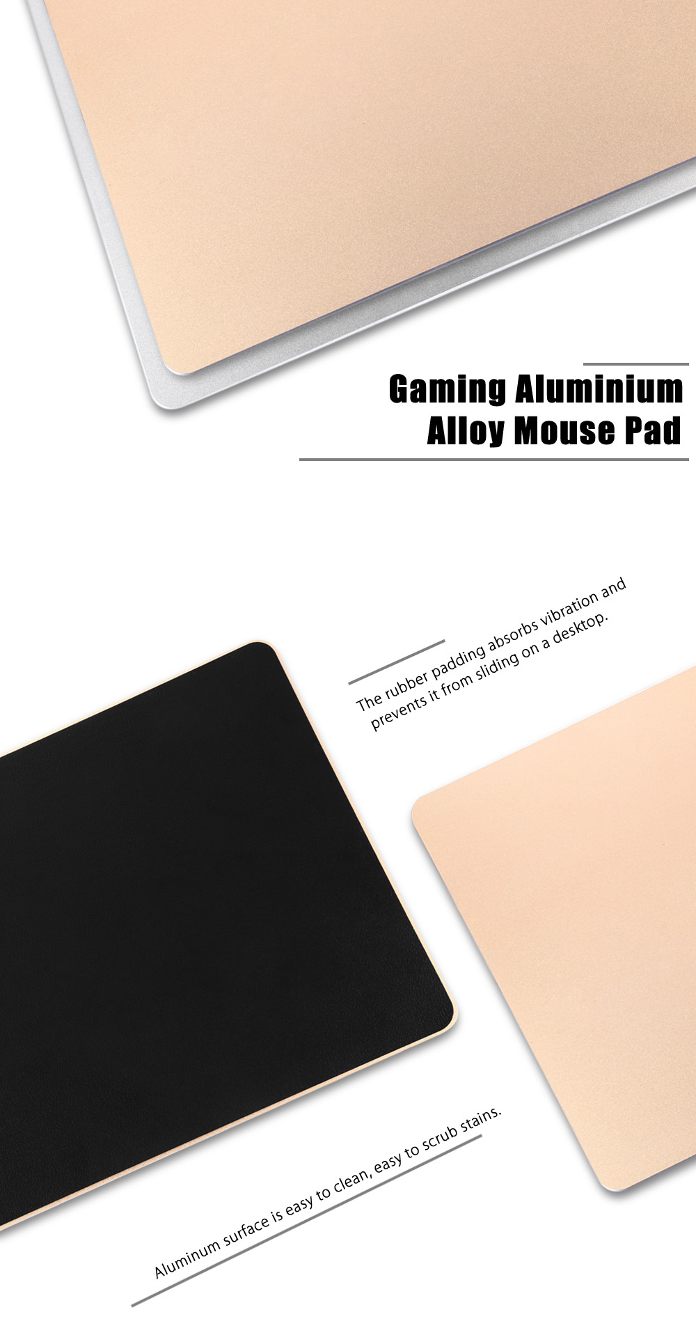 Gaming Aluminium Alloy Mouse Pad for Office Daily Supplies