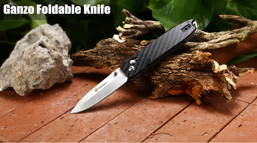 Ganzo G746 - 1 - CF Axis Lock Foldable Knife with Carbon Fiber Handle