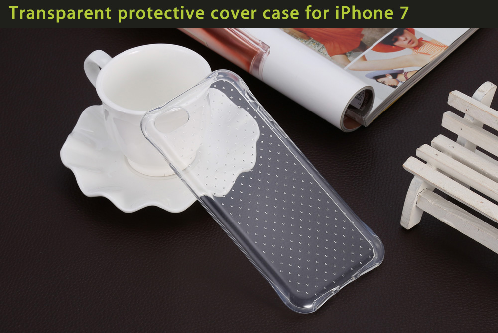 Transparent Style TPU Soft Case Protective Cover for iPhone 7 with Salient Points Design