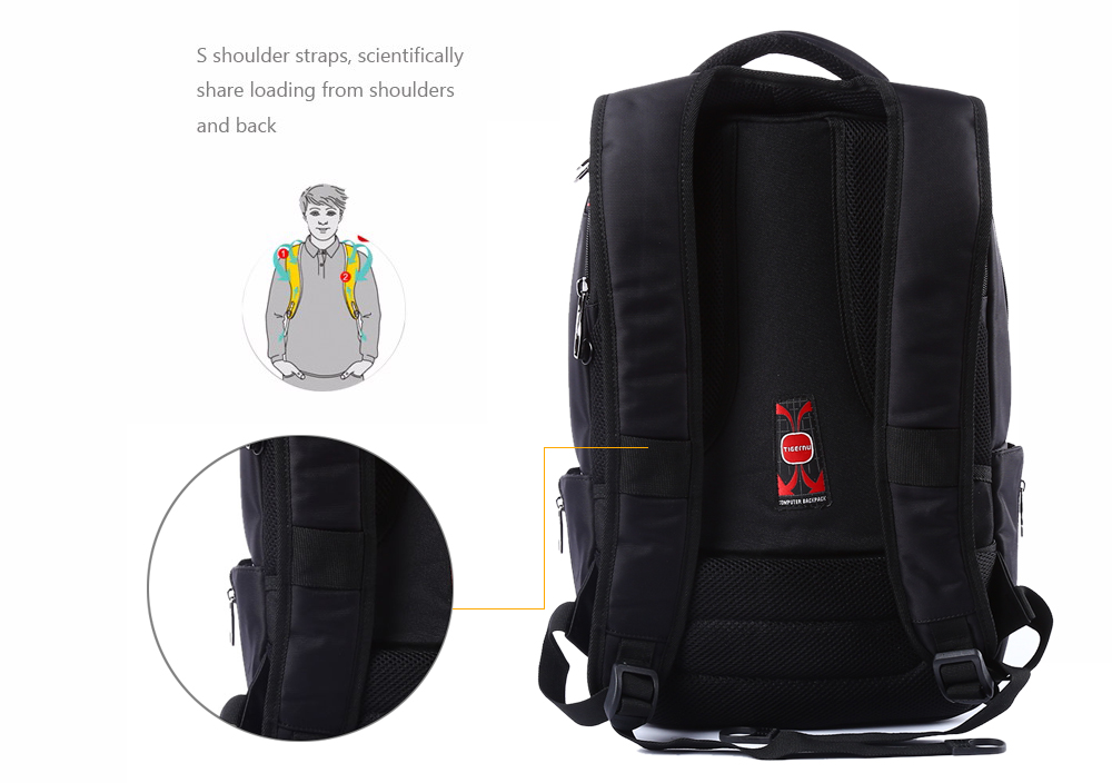 Tigernu T - B3151 14 inch Nylon Leisure School Backpack for Outdoor Travel