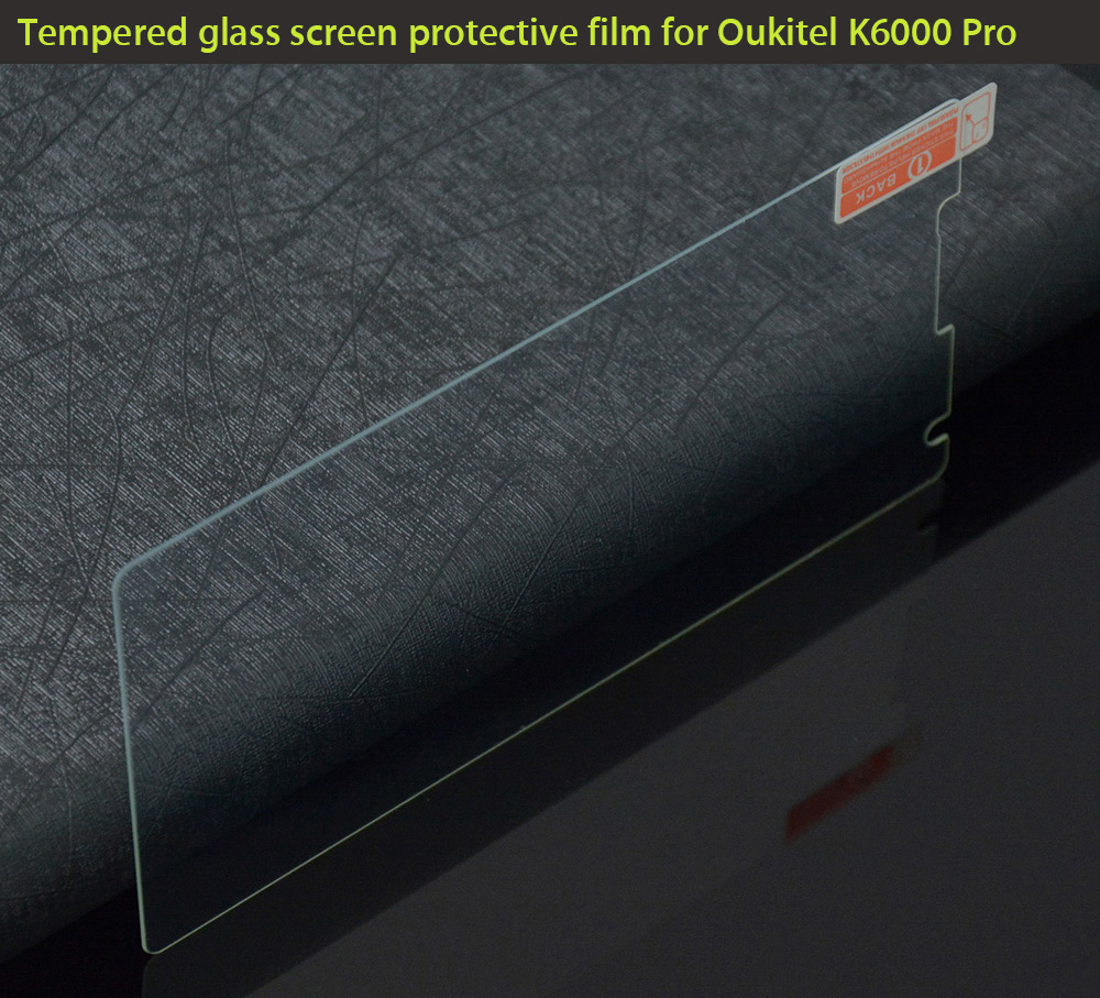 Original Tempered Glass Screen Protective Film for Oukitel K6000 Pro 0.3mm 9H Explosion-proof Membrane